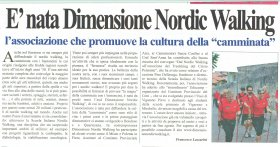 E' NATA DIMENSIONE NORDIC WALKING - dimensione nordic walking asd
